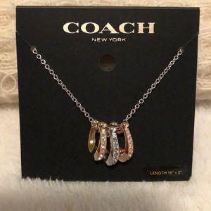 NWT Coach Signature Rondell Necklace, Tri-Color